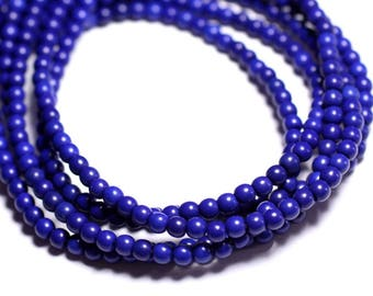 40pc - beads Turquoise synthetic balls 4 mm blue night 4558550022523