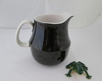 SALE Classic Mikasa Black n White Cerastone Creamer China Creamer Ceramic creamer Small creamer Black and White pitcher Ceramic pitcher