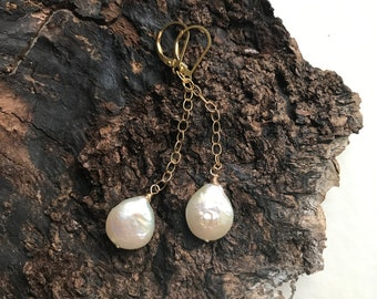 Long Freshwater 14k Goldfill Earrings