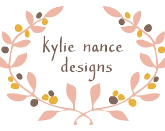 Premade Business Logo Design - for designers small business owners - shop owners - laurel wreath