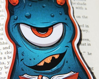 One Eyed Meanie cute monster bookmark
