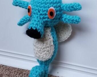 Pokemon Inspired Horsea Crochet Plush