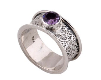 Silver Ring 925 sterling silver ring with amethysth gemstone