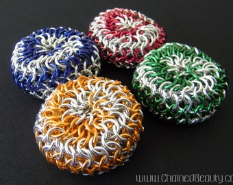 Spiral Chainmaille Footbag In Your Choice of Color