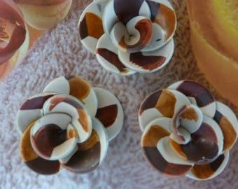 DECO JEWELRY CARAMEL CHOCOLATE FLOWERS...