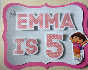 Dora and Friends Personalized Party Sign