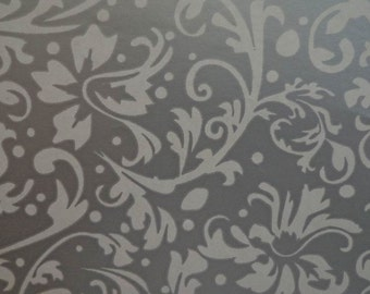 Vintage 1960s Gift Wrapping Silver Swirl Wedding & Anniversary Gift Wrap Paper All Occasion Silver Gift Wrap 1 Sheet