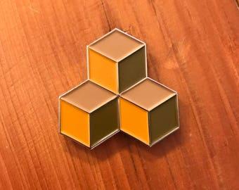 M. C. Escher soft enamel lapel pin