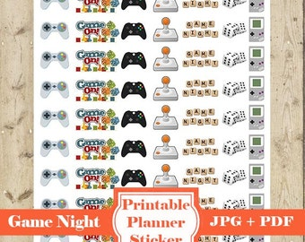 GAME Mini Sticker – Printable Game Sticker Video Game Planner Stickers Gaming Icon Planner Sticker Happy Planner Game Erin Condren DOWNLOAD