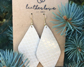 Neutral- Leather Earrings