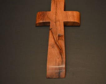 """Wood Cross; Christian Gift; Home Decor; Wood Gifts; Wedding Gift; Sympathy Gift; Mesquite;5""""x9""""x1""""; Free Ground Shipping USA; cc20-3061517"""
