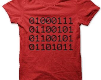 Geek in Binary Code t-shirt