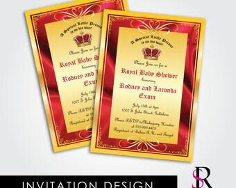 Royal Baby Shower Invitation, Prince Birthday Invitation