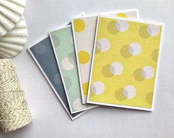 Blank Notecards, set of 4 notecards, birthday Cards, cute notecards