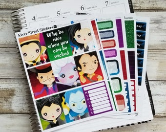 VILLAINS Deluxe Weekly Planner Sticker Kit for Erin Condren Life Planner, The Happy Planner, Recollections Planner, SMC, Limelife Planners
