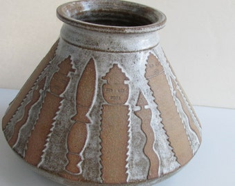 Studio Pottery Vessel Tribal Indian