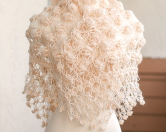 Bridal Shawl, Bridal Bolero Shrug, Champagne Shawl, Bridal Cape, Winter wedding, Bridal Cover up, Bridal Wrap, Bridal Shrug