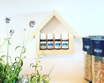 Little House Oil Shelf, Small Oil Shelf, Essential Oil Storage