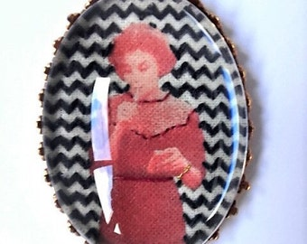 Brooch embroidered Audrey Horne Twin Peaks