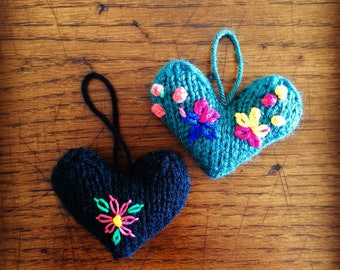 Hand Knitted Hearts