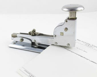 An 'Ace' Stapler - Chrome Stapler - Ace Model No. 102 - Industrial Chic - Ace Fastener Corp., Chicago - Office, Den, Collectible