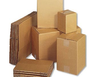 Cardboard Boxes (5x5x5) - Packs of 5 10 15 20 25 50 75 100 125 150 175 200 250 500 1,000 1,500 2,000 2,500 5,000 - FREE 2-6 DAY SHIPPING