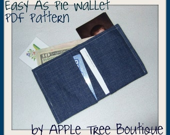 Easy as Pie Wallet PDF Pattern ebook Card and Money Holder