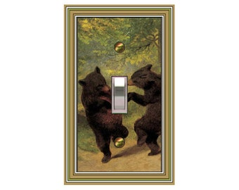 0171X Dancing Bears - mrs butler switch plate covers - choose sizes / prices from drop down box