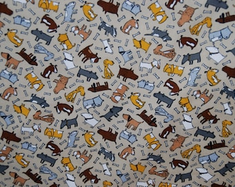 3/4 yard Timeless Treasures fabric DOGS ALL OVER