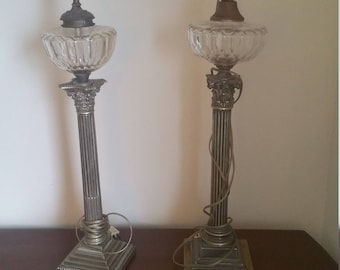 Set  of Edwardian gas lamps