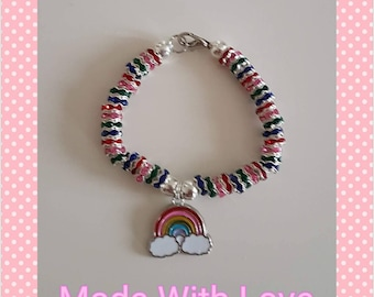 Rainbow childrens bracelet