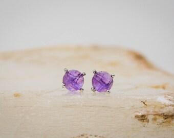 Tiara Earrings in Amethyst