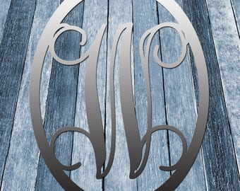 The Round-A-Bout Metal Single Letter Circle Monogram