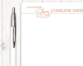 personalized notePAD - a little NOTE FROM SCRIPT - stationery - stationary - letter writing paper
