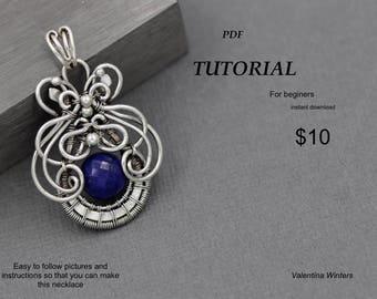 Tutorial-Jewelry tutorial, Wire wrapping, wire wrapping tutorial,copper,silver, beginners tutorial, bail tutorial