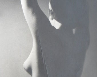 Artsy 1950's Female Silhouette Snapshot Photo - Free Shipping
