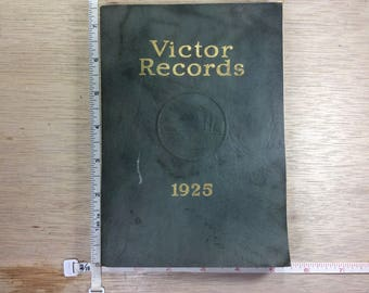 Vintage 1925 Victor Records Catalog Used