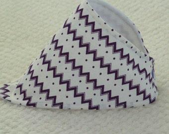 Chevron Print Bandana Bib, Cream and Purple Chevron Print, Dribble Bib, Bandana Bib, Baby Bandana Bib