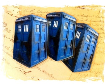 Police Box Bookmark, Great Gift for Dr. Who Lovers, Clearance Sale