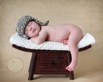 The Lumberjack Hat Newborn Baby Photo prop, Photography Baby Hat, New Babies Photo shoot, GIFT Newborns Baby Hat, Baby Hat and diaper cover
