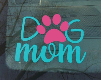 Dog Mom Paw Decal