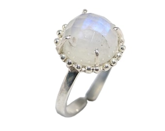 Rainbow moon 92.5 sterling silver ring