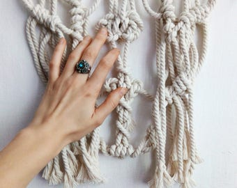 Small Macrame Wall Hanging #19 by Harpy Knot