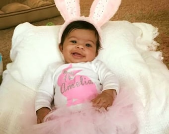 Easter Custom Onesie for Baby with Tutu