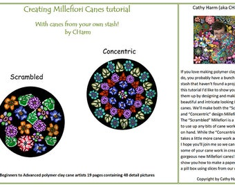 Creating Millefiori Canes With canes from your own stash!  Polymer clay cane tutorial by CHarm