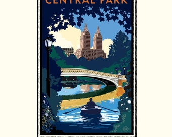 Landmark NY | Central Park Bridge Day by Mark Herman