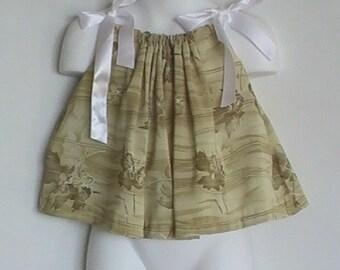 Safari Girl Pillowcase dress / top Size newborn, 6 month, 8 month, 12 month, Length 11 inches.