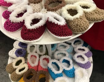 Baby booty slippers