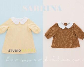 1367 Sabrina Blouse and Dress (3M - 10Y) PDF Pattern