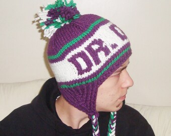Winter hats for women's hats trendy personalized knit DR DOG lover gift for woman, fast shipping,purple, green, white